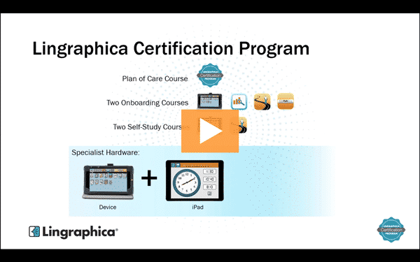 Thumbnail from Lingraphica's introductory course for the Lingraphica Certification Program